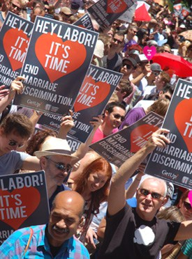 Despite a small change imposed on her on same-sex marriage, Gillard carried Labor further to the right at its national conference