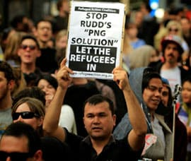 The fantastic outburst of anger against Rudd's PNG deal must lay the basis for a sustained campaign to once again defeat anti-refugee policies